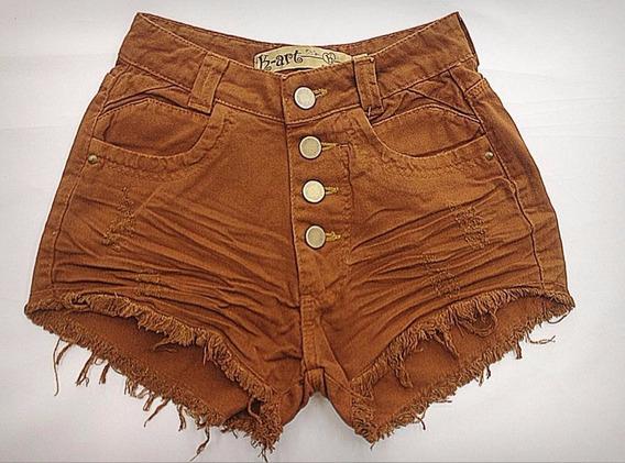 Shorts Jeans Feminino Hot Pant Cintura Alta Confortável
