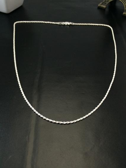Corrente Colar Cordão Baiano Prata Maciça 925 60cm