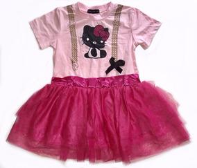 Vestidinho Hello Kitty Rosa