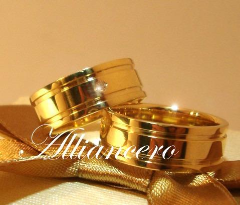 Aliança Ouro 18k 18 Gr - Frete Gratis Casamento - Alliancero