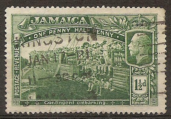 Jamaica Colonia Inglesa Antigua 1 Valor Año 1919