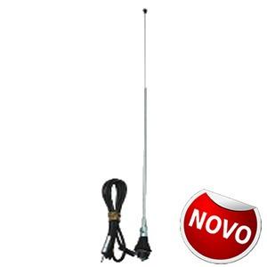 Antena 2 Estagios Am E Fm Universal 700mm Cromado Garantia
