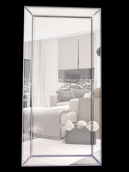 Espelho Importado Cristal Bisotê Folheado A Prata