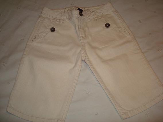 Pantalón Bermuda De Jean Gap Crema