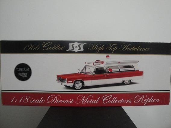 Mini Cadillac Ambulância 1966 White 1:18 Precision Raro