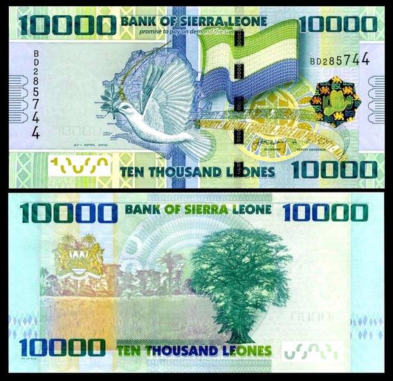 Sierra Leona Billete De 10.000 Leones Año 2010 Sin Circular