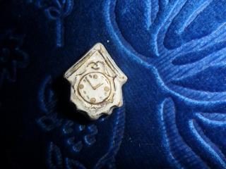 Prendedor Antiguo Reloj De Porcelana C/oro.microcentro-avell