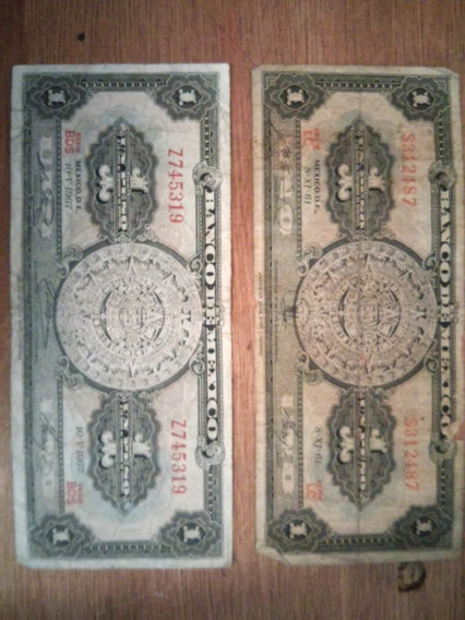 2 Billetes De 1pesos El Precio Es Por Los 2