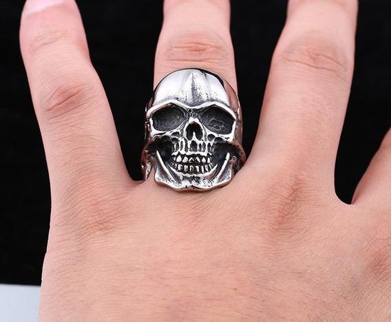 Anel Skull - Cranio Caveira Inox Tam. U S A 11/28 B R