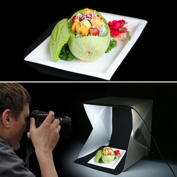 Mini Studio Fotográfico Com Led - Frete Grátis