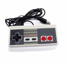 2 Controles Nintendinho Usb Nes Pc Nintendo Frete Grátis