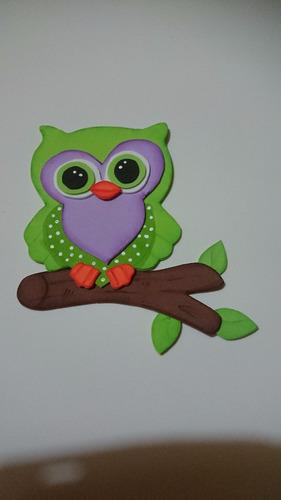Imagen 1 de 6 de Buhos En Goma Eva ,cuerto Infantil,souvenirs,centro De Mesa