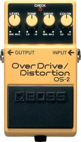 Pedal Boss Overdrive Os2 + Fonte + Nfe + Garantia