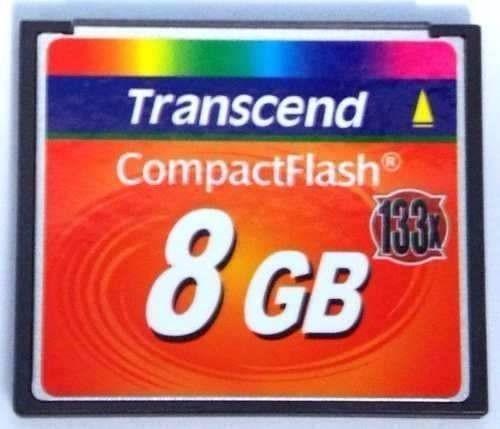Cartão Memória Compact Flash 8gb Transcend