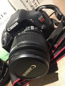 Câmera Canon T3i Com 2 Lentes, Case Para Lente E Bolsa.