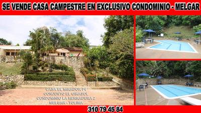 Casa De Descanso En Condominio La Herradura 2 En Melgar