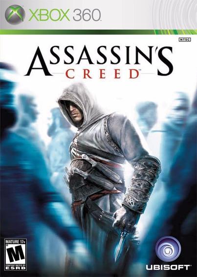 Jogo Assassins Creed 1 Xbox 360 X360 Mídia Físi Frete Grátis