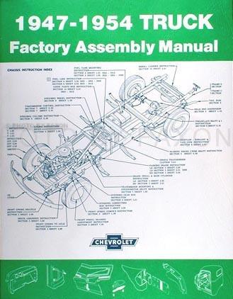 Manual De Manutenção Chevrolet Truck De 1947-1954. Catálogo