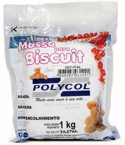 5 Massas De Biscuit Polycol Natural 1kg