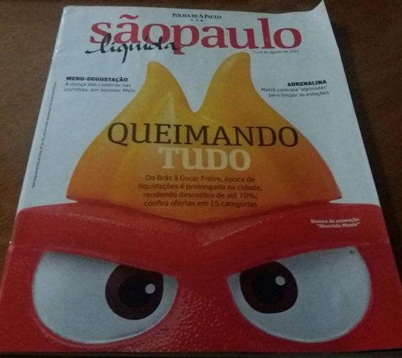 Revista Veja Sp Liquida - Queimando Tudo Giro Com A Santa