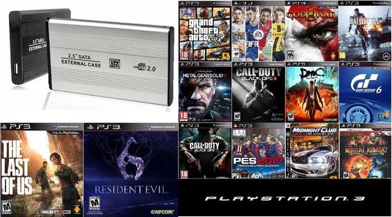 Hd Externo 1 Tb, Playstation 3 Com Jogos De Ps3 + Emuladores