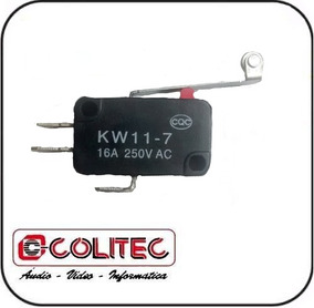 Interruptor Chave Micro Switch Fim Curso C/ Roldana Longa