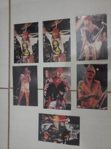 Lote 7 Fotos Originais Guns Roses