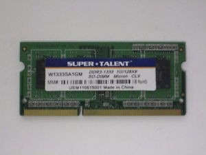 Memoria Ram Ddr3 Notebook/netbook Supertalent