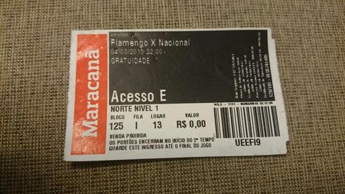 Ingresso Despedida Do Leo Moura - Flamengo X Nacional