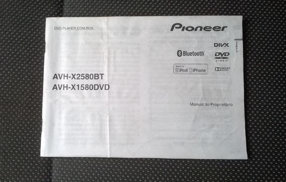 Manual Do Dvd Pioneer Avh-x2580bt / Avh-x1580 Dvd