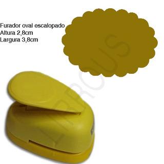 Furador Scrapbook Oval Escalopado Corte 3,8cm