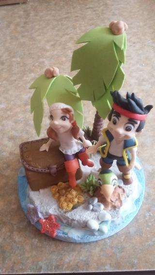 Adorno Para Torta - Jake Y Los Piratas