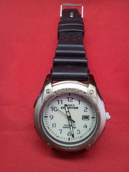 Relógio Timex Expedition / Indiglo Calendário E Luz Noturna