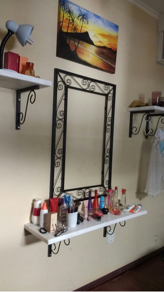 Aparador Suspenso E Moldura Pra Espelho Quarto Sala Bancadas