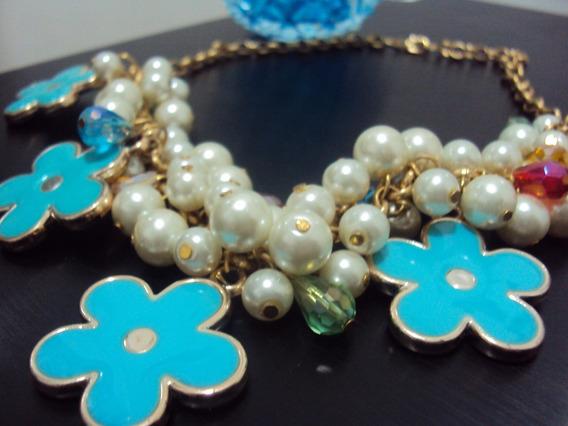 Colar Flowers Blue