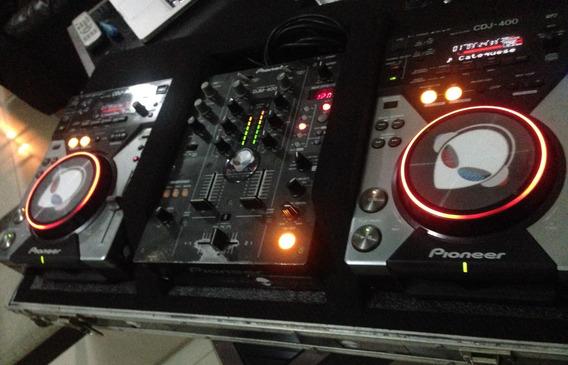 Par Cdj 400s Pioneer (sem Mix E Case)