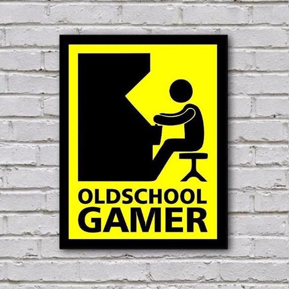 Placa De Parede Decorativa: Old School Gamer - Shopb