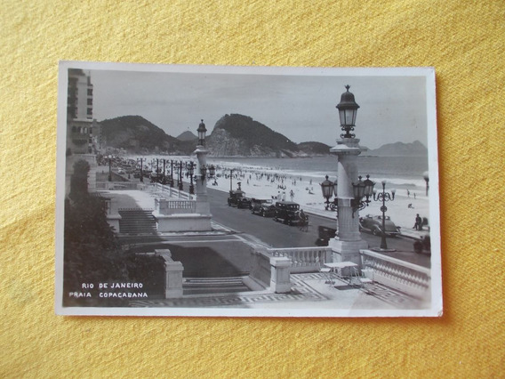 2102- Postal Rio De Janeiro, Brasil, Praia Copacabana 1935