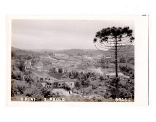 Cartao Postal Fotografico Apiai - São Paulo Anos 40