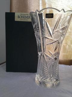 Florero Jarrón Crystalite Cristal Bohemia Pinwheel 87v