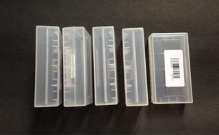 Case Porta Baterias 18650 / Cr123 - Lote Com 5 Unidades