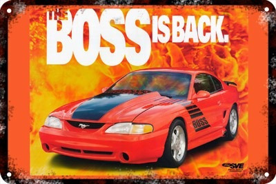 Poster Carteles Antiguos 60x40cm Ford Mustang Boss Au-039