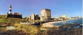 Varig Cartão Postal Bahia Praia Da Barra Com Farol Anos 80.