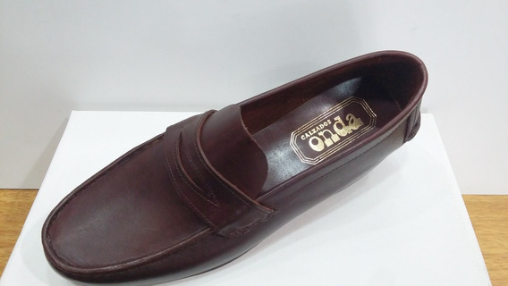 Zapato 100% Cuero Lopez Art 448 Color Negro Suela Y Marron