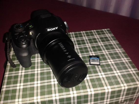 Câmera Sony Dsc-hx300 Superzoom De 50x E Cartão De 16gb