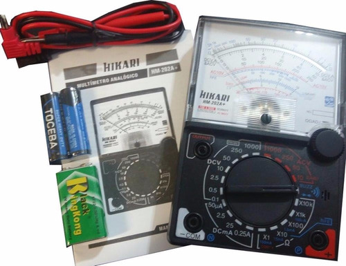 Multímetro Hikari Hm 202 A+ 20kohms/volt Analógico