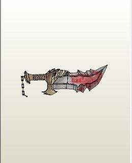 God Of War Espada Planos Pepakura Para Imprimir