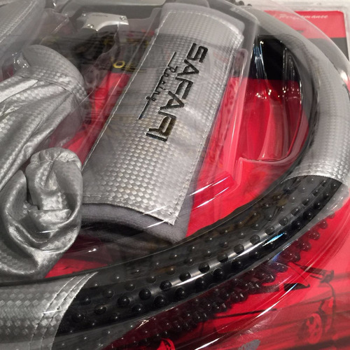 Imagen 1 de 5 de Cubre Volante Pomo Forro Cambio Kit Tuning Auto Gris K124