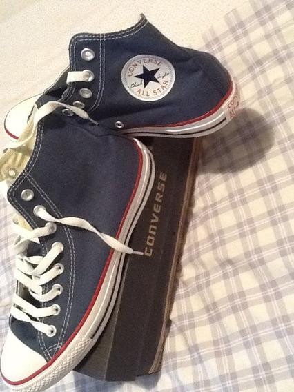Converse All Star Botitas Divinas Azul Navy 40 !!