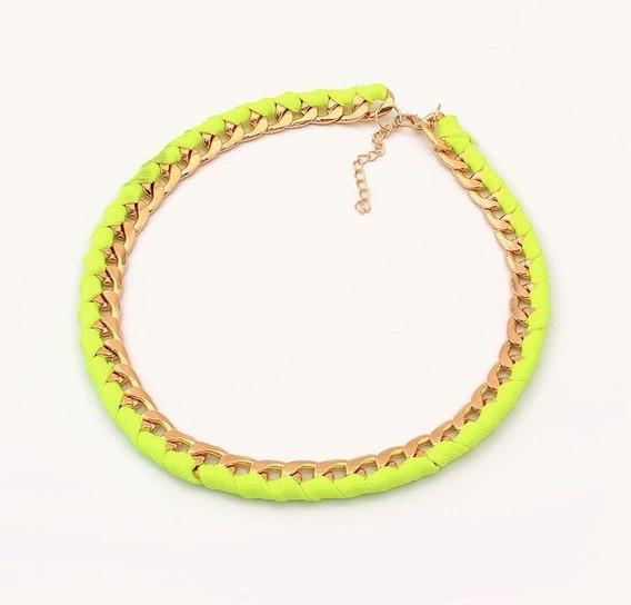 Collar Trenzado Dorado Amarillo By Sunshine